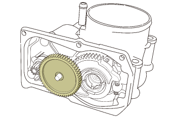 Electronic throttle gear