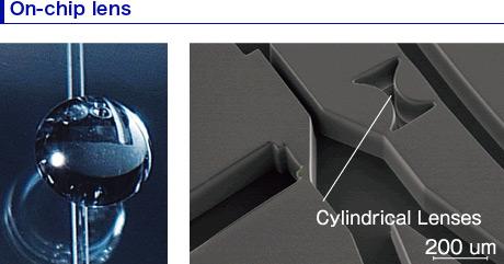 On-chip lens